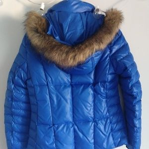 Small NWT Marc New York blue puffer quilted coat